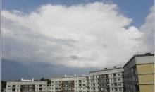 Jūlija debesjums, frontes un lietus