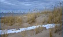 Ziemā Jaunpils nov., Mangaļsalas pludmalē
