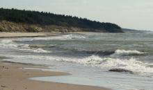 Vējaina diena pie jūras.