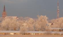 29.decembra rīts pie Liepājas ezera