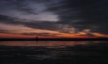 Liepājas ezers pirms saullēkta 17.01.