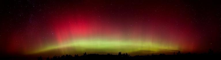 Ziemeļblāzma Papē, naktī no 24. uz 25. oktobri
