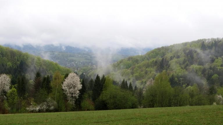 Ja paveicas -starp miglas vāliem paveras kalnu panorāmas.