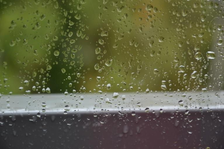 Pēcpusdienā kārtējais lietus gāziens...