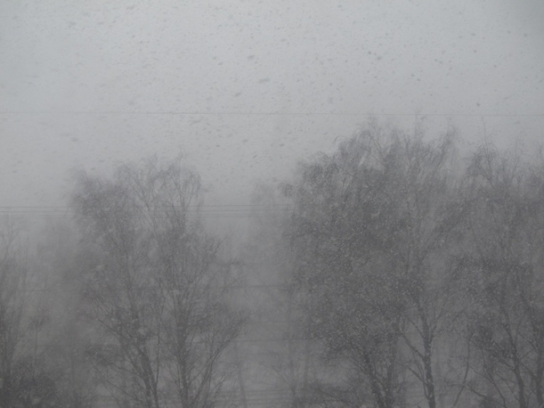 Lielākie sniegputeņi sanāca martā. 16. martā nāca sniega brāzmas no ZR puses. Viena tāda iekadrēta dienas laikā Rīgā.