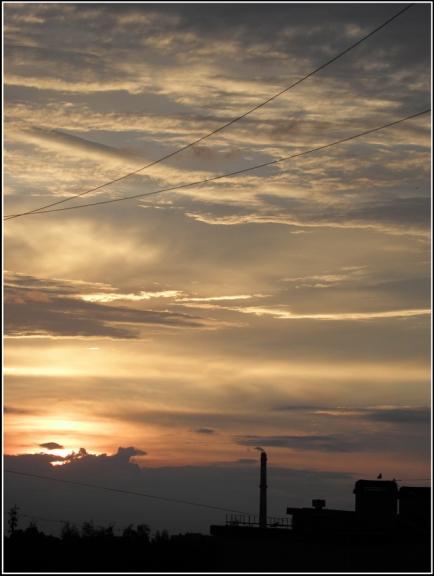 Autors: gubumākonis. Ciklona FRANZI rīta mākoņi, 11.06.
