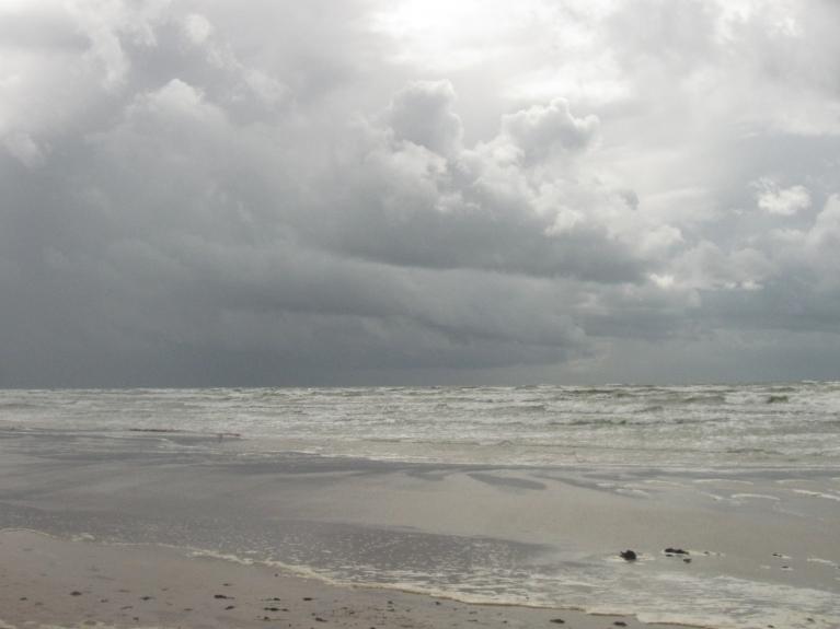 Vēja pūtiena dinamika, Baltijas jūras atklātajā krastā...
