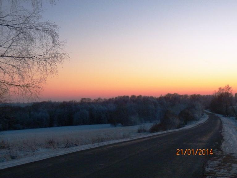Saulriets otrdien. Viļakas ezera ieleja, tālāk Viļaka.