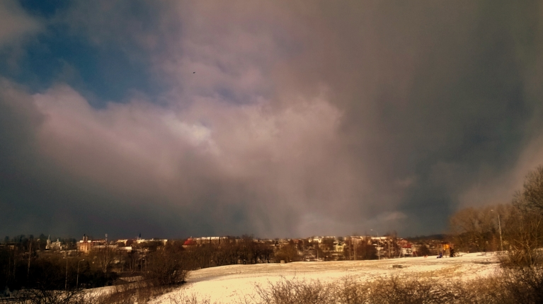 Foto: Norrmis. Sniegs Tukumā, 8.februāris