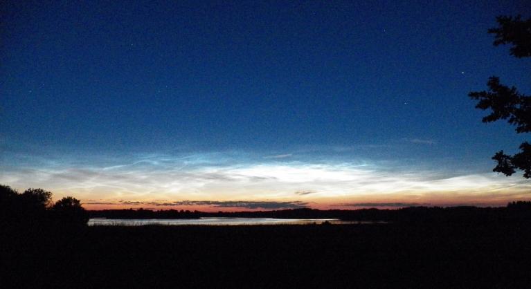 Foto: Pierobežā. Viļakas ezers 21. - 22. jūlijs, 2014. Šie kadri - ap plkst. 1-iem.