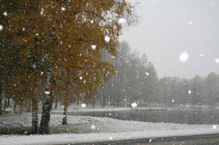 2010. 13. oktobra diena - sniegs.
