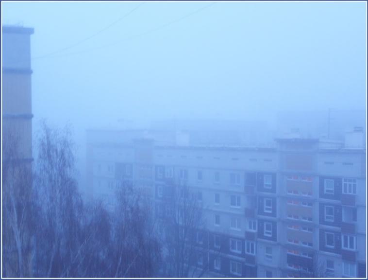 Kaut kad agrā rītā bija bieza migla- foto caur logu pa miegam...
