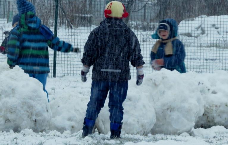 Bērniem šodien lielie ziemas prieki!