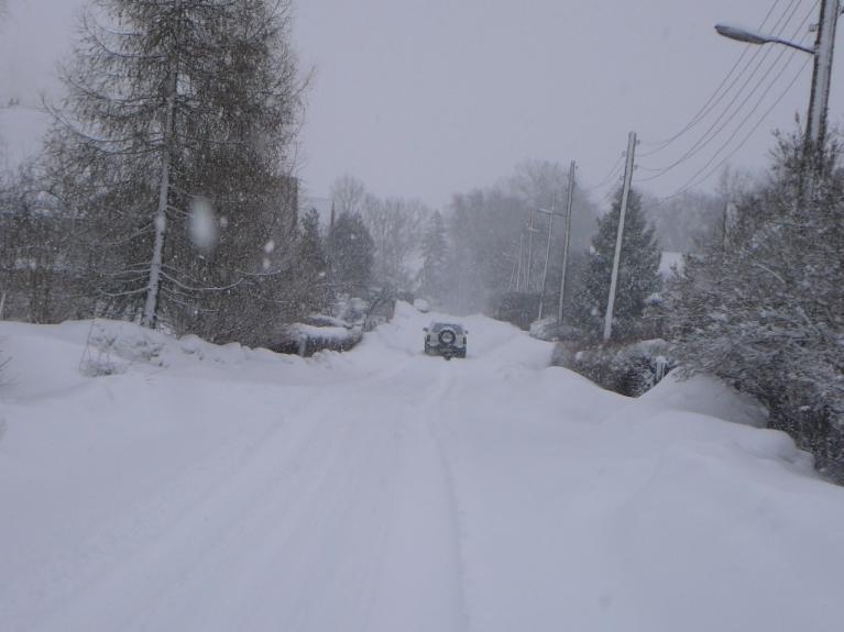 3. marta rīta puse- pa nakti piesniguši 13-15 cm sniega, putenis turpinās.