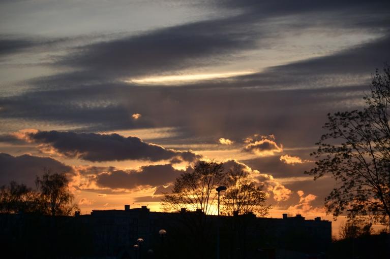 Noslēgumā 30. aprīļa saulriets pirms Valpurģu nakts...