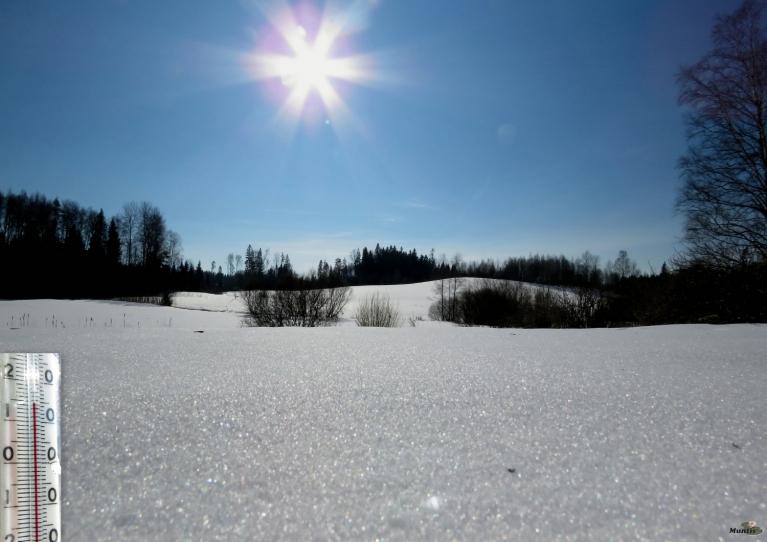 2. marts - saulītē silti.