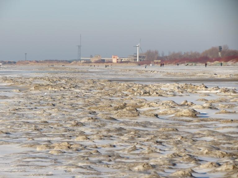 Februāris - sals un sniega izcilņi Liepājas pludmalē