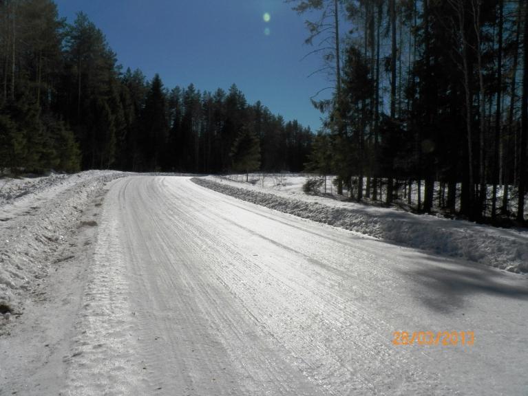 Ledū kalts ceļš Liepna - Žīguri 28. martā