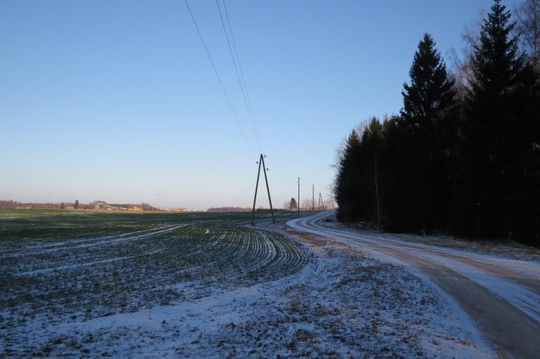 Lauku ceļi  ir labi izbraucami, pašvaldībai ietaupās līdzekļi -sniega nav, ceļi nav jātīra.