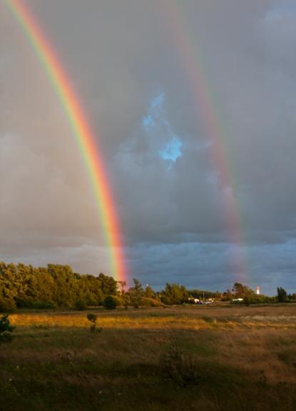 Primārā un sekundārā varavīksne