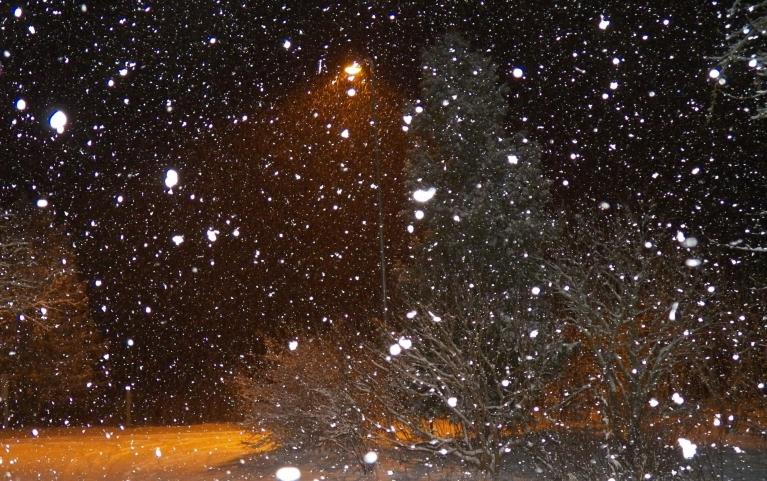 Šitā sniga 23.decmbra vakarā.