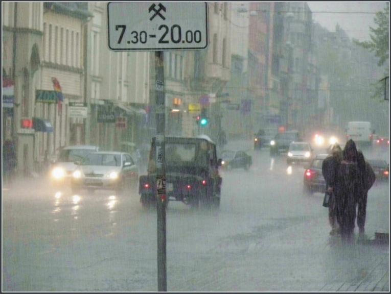 Lietusgāze un ari negaiss Rīgas centrā, 13. maijā ap pl 18:00
