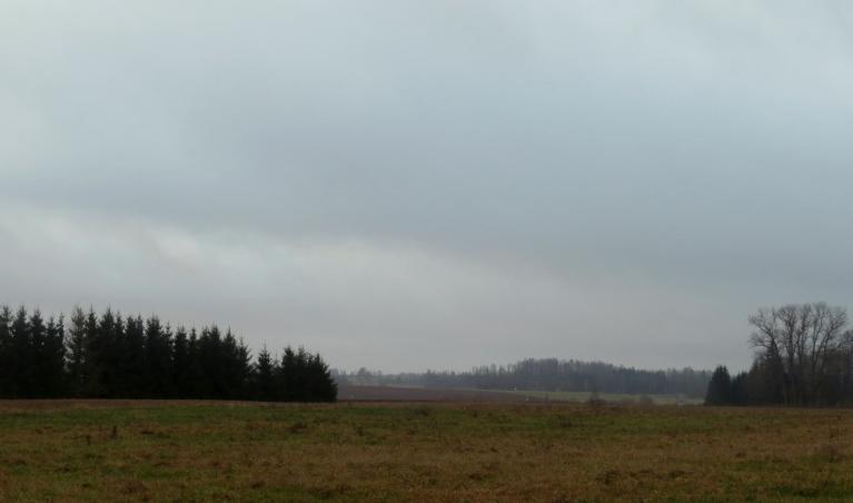 10. decembris - debesis zem pelēka mākoņu deķa.
