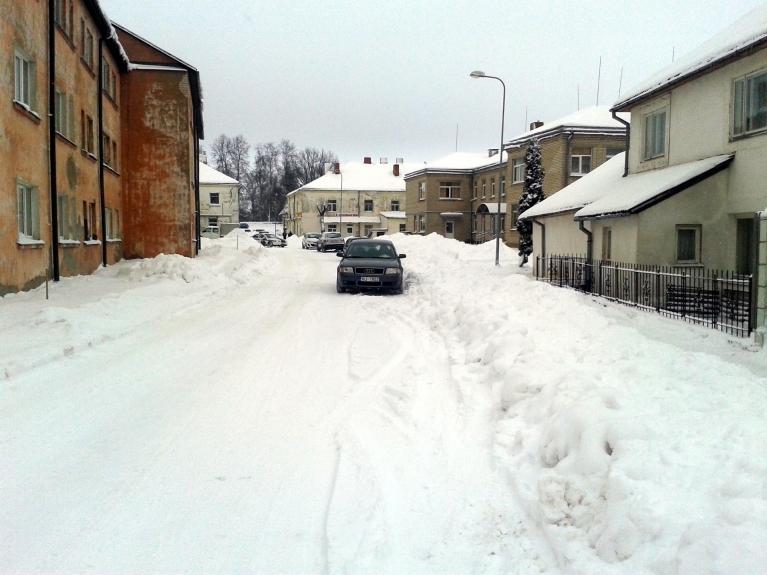 Foto: PeecisP, sniegs Alūksnē 12.01.