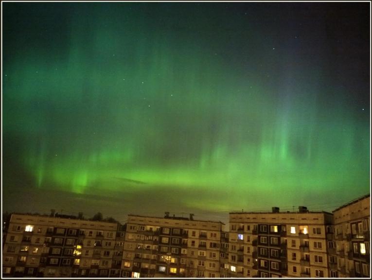 Foto: gubumākonis. Ziemeļblāzma Rīgā (17.03.)