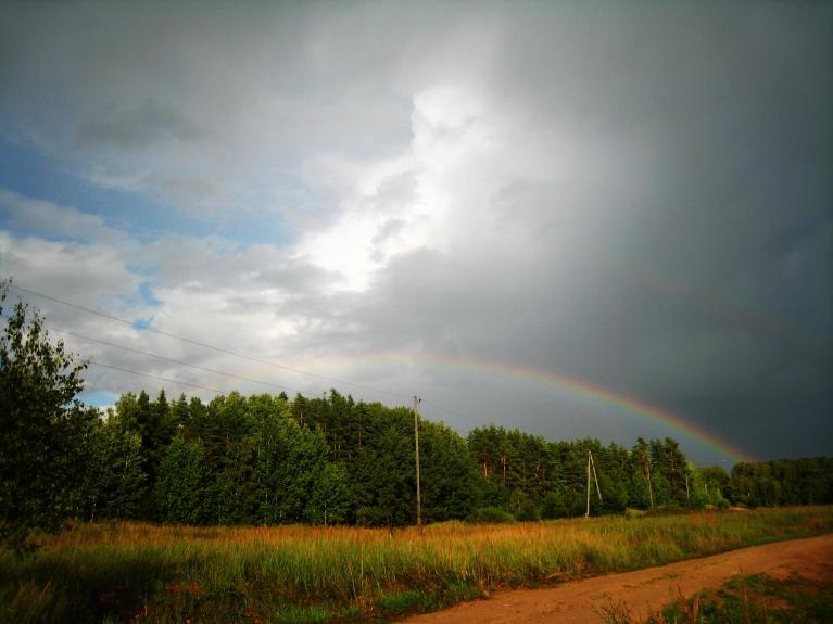 Ap 19.oo pierima lietus un uzspīdēja saule...