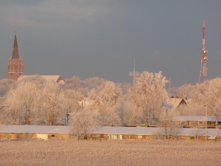 Annas baznīca un Liepājas TV tornis