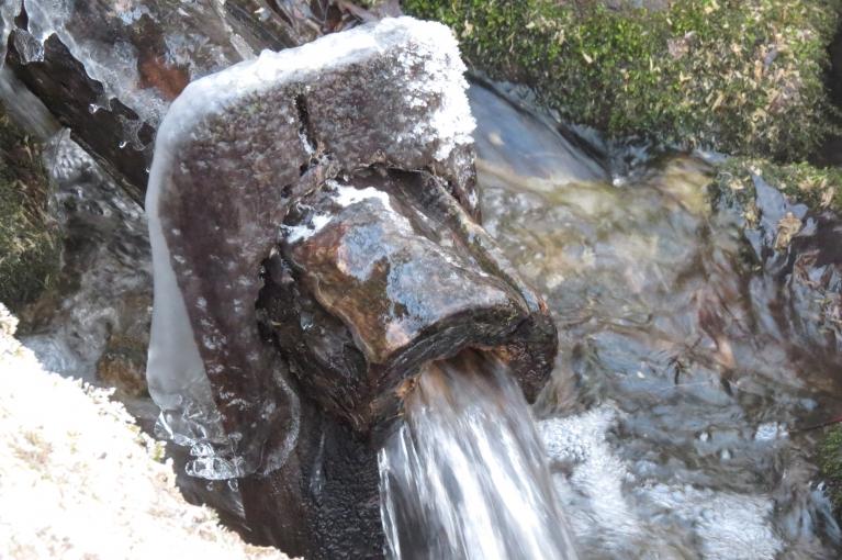 Apledo ūdens ņemšanas vieta Kaļkugravā.