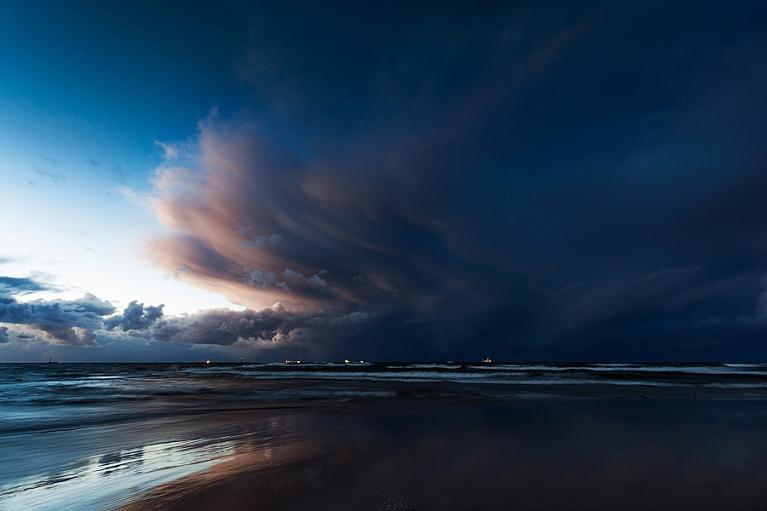 Liela ciklona sakums, ari Mangaļsala. 2013.12.01