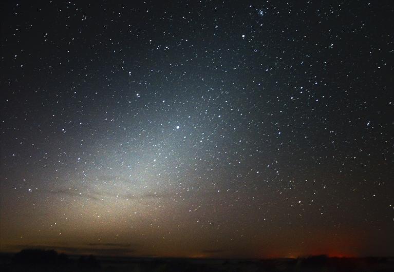 Zodiakālā gaisma Papē, 9. oktobra rītā
