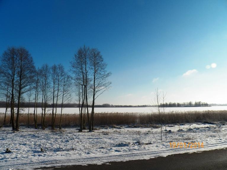Viļakas ezers pēc 7 dienām mīnusos. Makšķerniekus bildē neredz, bet tālumā ir gana daudz.