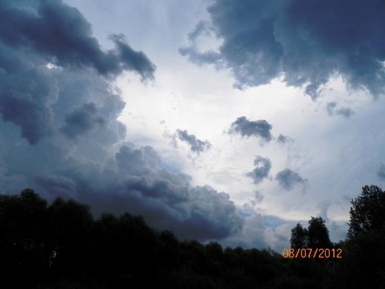 Pēcpusdienas negaiss 8. jūlijā Viļakā