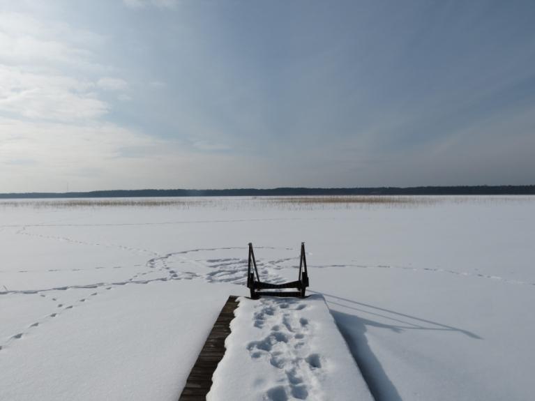26.02. Būšnieku ezers no cita skatu punkta