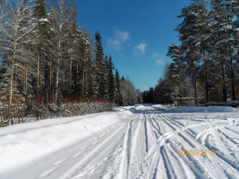 Ir skaista ziemas diena ... 6. aprīlī .... (Žīguri)