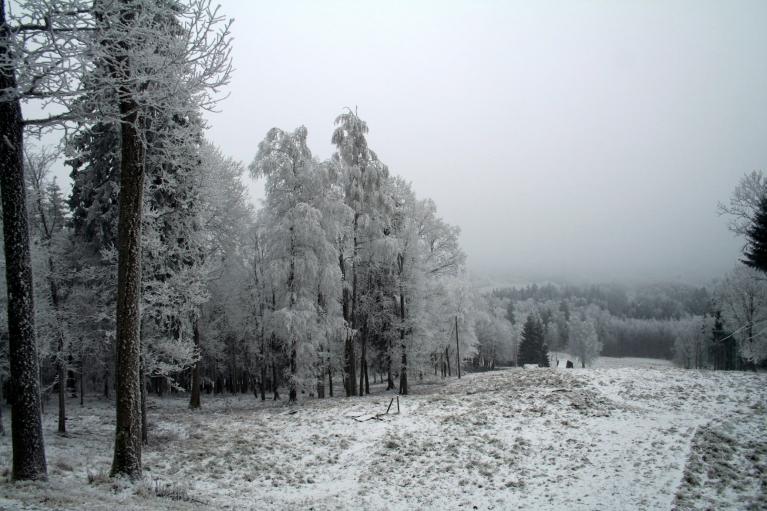 27.12.2007. Gaiziņš. Apmācies, neliels sniegs, sarma, lēns DR vējš, ap -4.