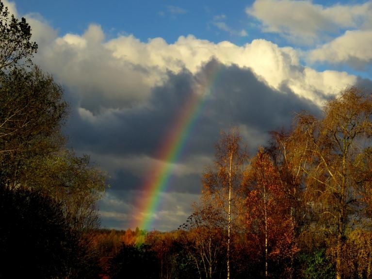 Rīta pusē vēl pāris reizes nedaudz uzpilināja, ļaujot papriecāties par skaistajām varavīksnēm.