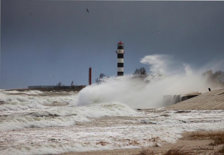 Stipra vētra Daugavgrīvā 28. novembrī