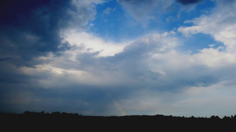 Lietus izbeidzas jau pabraucot pāris kilometru uz Allažu pusi, bet bija tik tuvu...