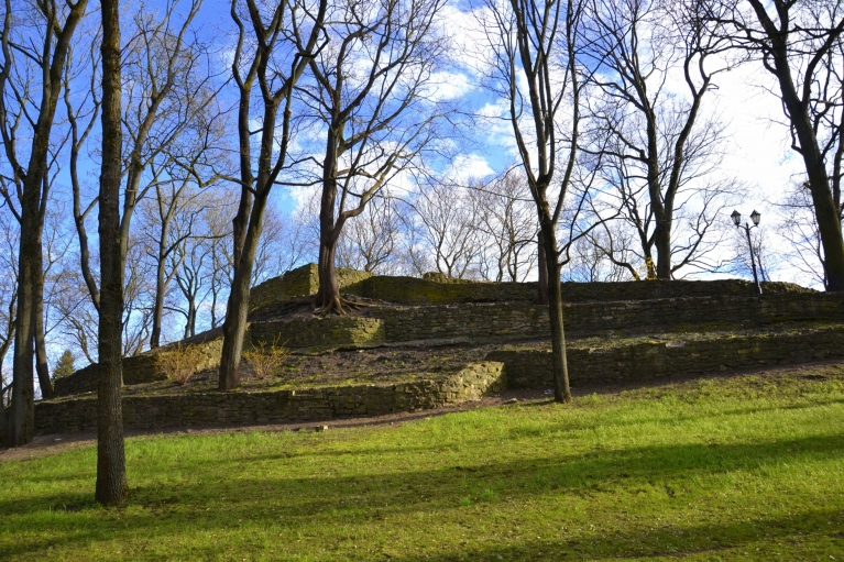 Bastejkalns zaļš pagaidām ir tikai no apakšas, bet koku plaukšana - laika jautājums.