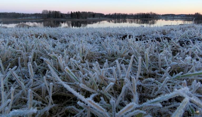 No rīta Zobols vēl brīvs no ledus, bet vakara pusē sāk pārvilkties.
