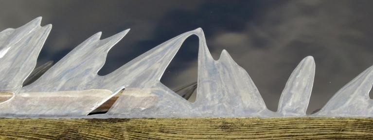 Arī šīs ledus skulptūriņas naktī sagādājis sals :))).