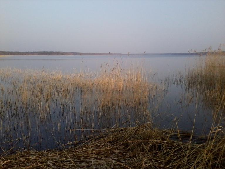 Puzes ezers 28. marta rītā.