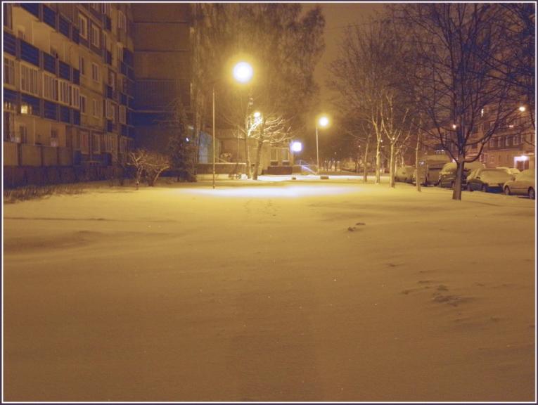 Autors: gubumākonis. Sniegputenis Zolitūdē 14.01. naktī