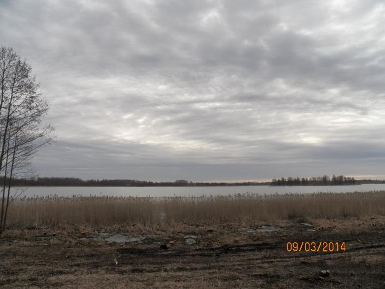 Viļakas ezers, kur 10. marta pievakarē izpeldējās bļitkotājs.