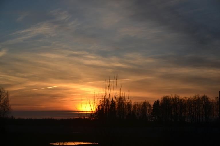 Pa ceļam no ezera baudu brīnišķīgā saulrieta turpinājumu.