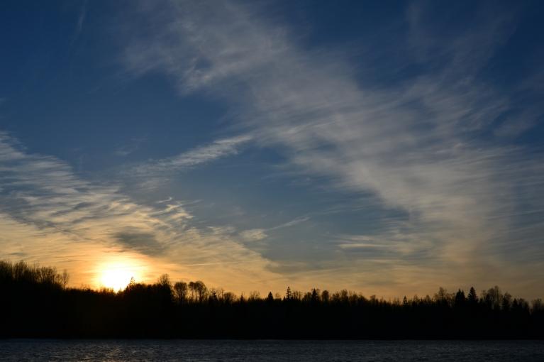 Vēlāk trešdienas vakarā atpūšos pie Cieceres ezera.
